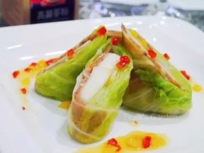 高麗蔘高麗菜西洋梨肉捲(素食版),簡單做料理