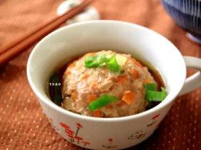 南瓜蒸肉丸,簡單做料理