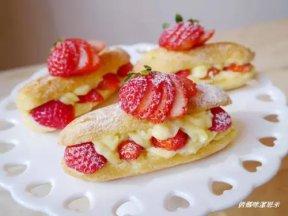 草莓卡士達。閃電泡芙