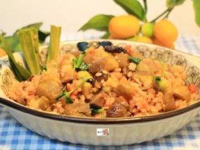 栗子炊飯(素食版),簡單做料理