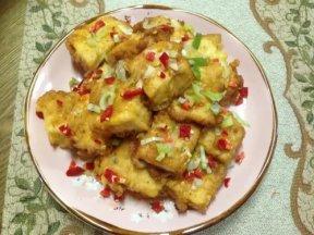 金沙豆腐(鹹蛋黃炒炸豆腐)
