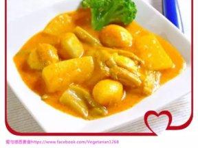 製作特製素蔬菜咖喱