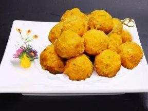(素食)素炸南瓜球的做法,簡單易做的美食小吃!絕對值得強力推薦!!